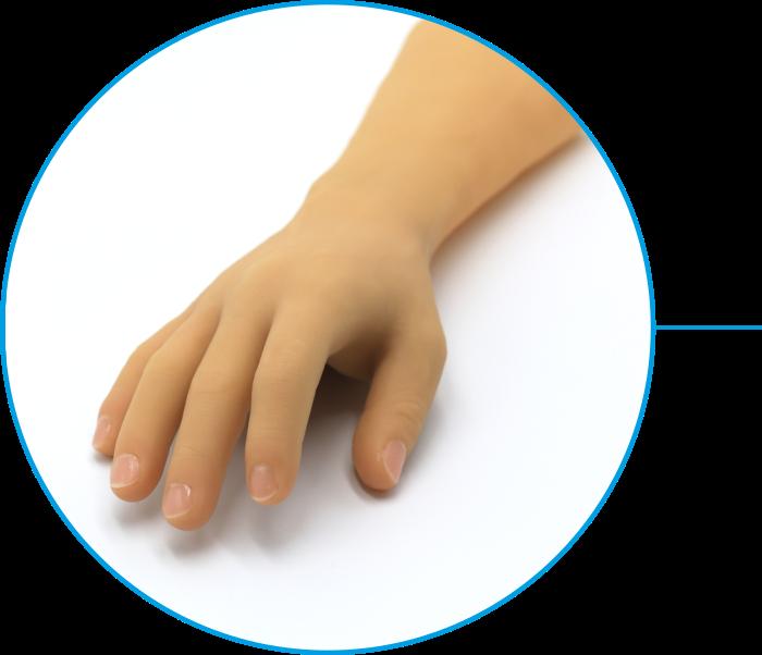 Prosthetic aesthetic hand