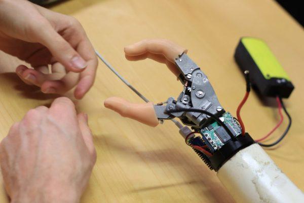 Working on myoelectric hand prototype